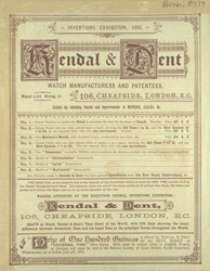 Advertisement for Kendal & Dent, watch manufacturers 8019